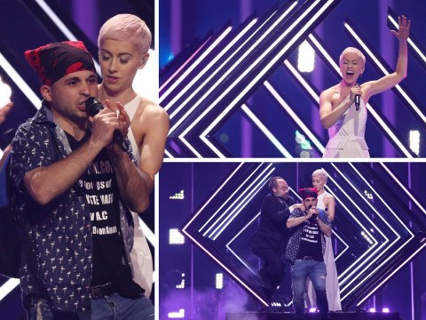 Eurovision fans rally round SuRie after stage invader gatecrashes her performance