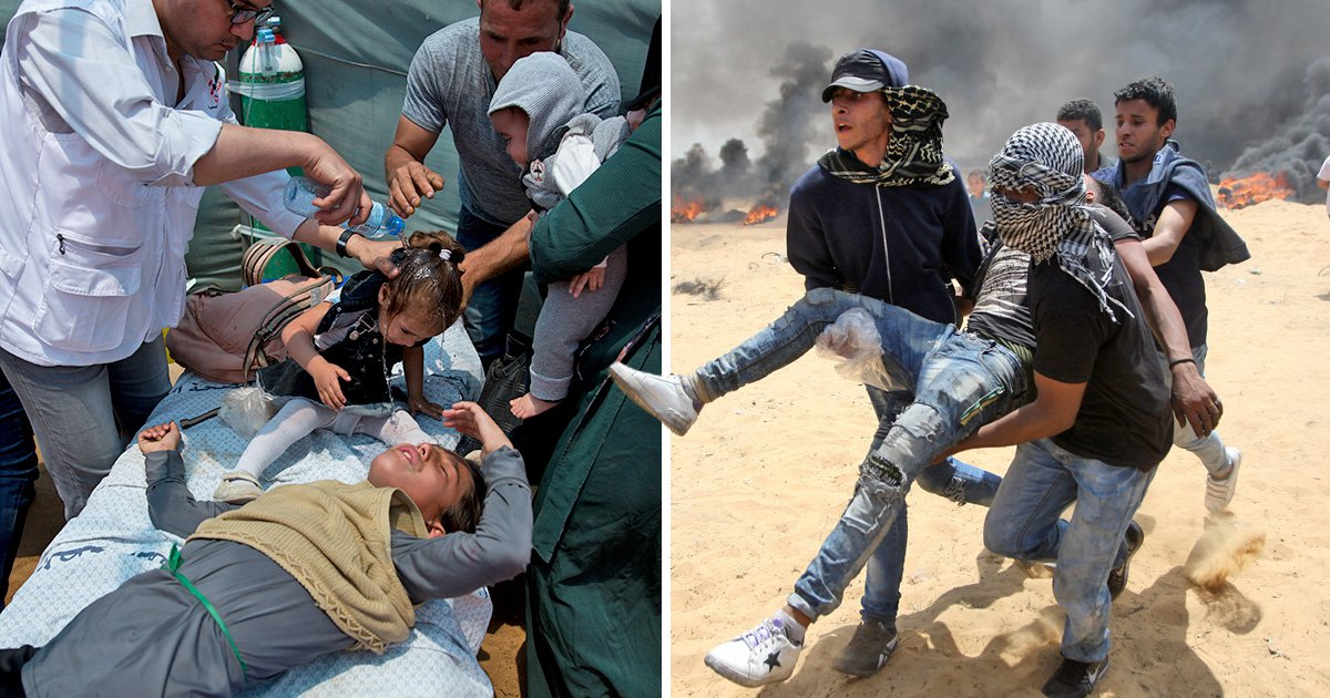 Baby dies in Gaza after breathing in tear gas as US Embassy opens in Jerusalem