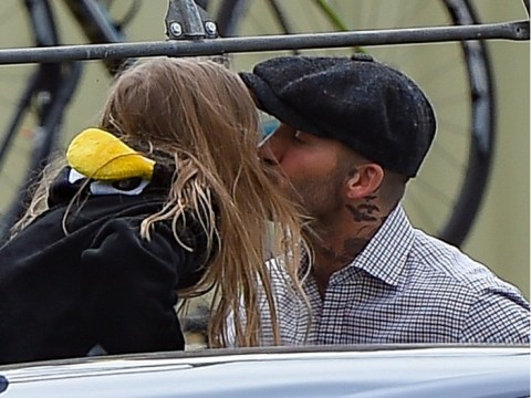 David Beckham gets sweet kiss from little Harper who is divine in penguin suit