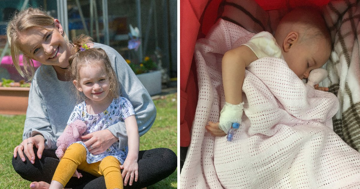 Mum's desperate attempt to fund toddler's treatment as brain tumour spreads