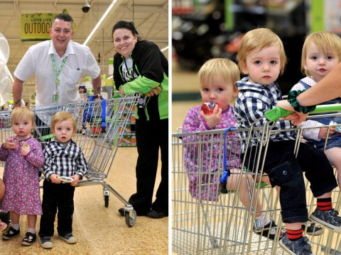 Asda creates unique trolley for 32-year-old mum of triplets