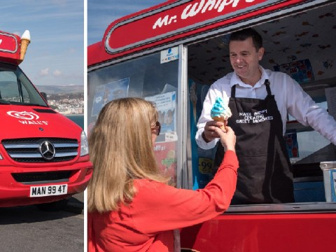 Dad who was once a banker now drives his own ice cream van