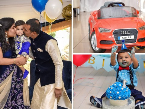Parents spent £7,000 on a royal themed birthday party for their one-year-old