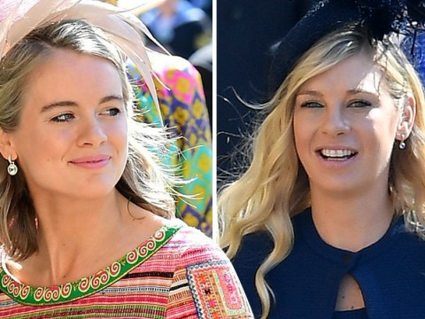 Prince Harry's exes Cressida Bonas and Chelsy Davy arrive together for royal wedding