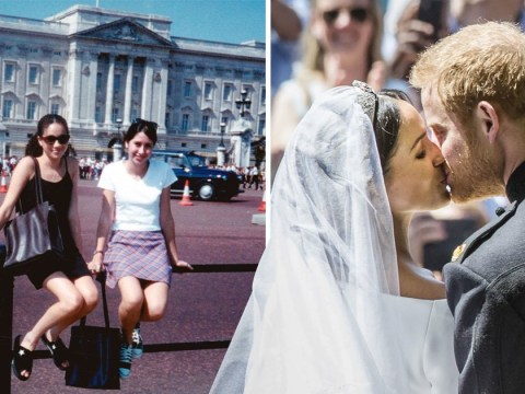 Meghan Markle goes from tourist to Duchess with picture outside Buckingham Palace at 15