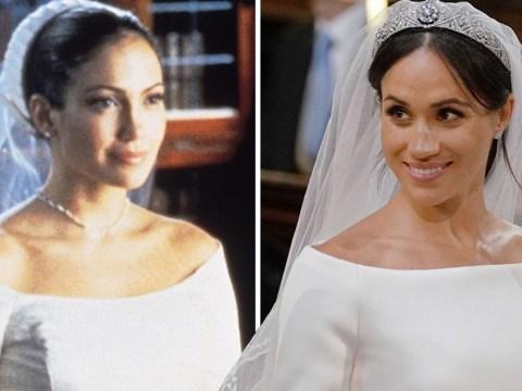 Twitter is convinced Meghan Markle's wedding dress was 'inspired' by Jennifer Lopez