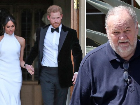 Harry praised new wife Meghan for 'navigating with grace' chaotic week with her dad