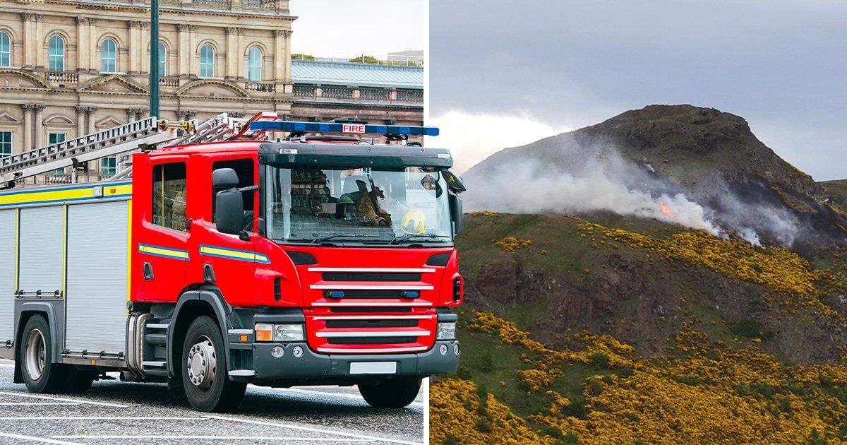 Wildfire spreads across Arthur's Seat in Edinburgh