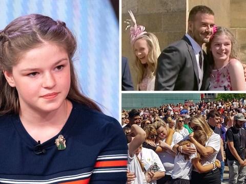 Manchester survivor returns to scene days after David Beckham selfie at royal wedding
