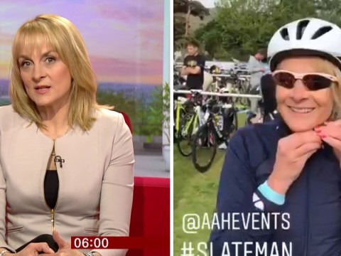 BBC newsreader Louise Minchin denies accusations of cheating during grueling triathlon