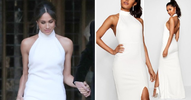 boohoo is selling meghan markle s wedding reception gown copy for 22 metro news meghan markle s wedding reception gown