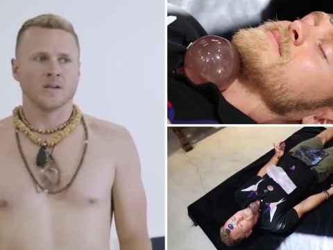 Spencer Pratt out-weirds himself as he does naked yoga – and yes he's still wearing crystals
