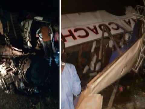 At least 22 killed in Uganda bus crash, including children