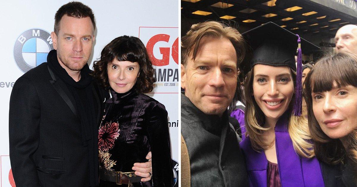 Ewan Mcgregor reunites with estranged wife Eva Mavrakis for daughter's graduation