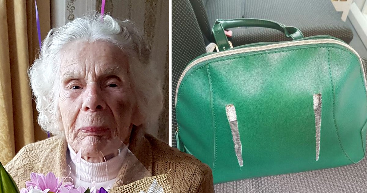 Pictured: Woman, 100, left with broken neck after being mugged on the way to church