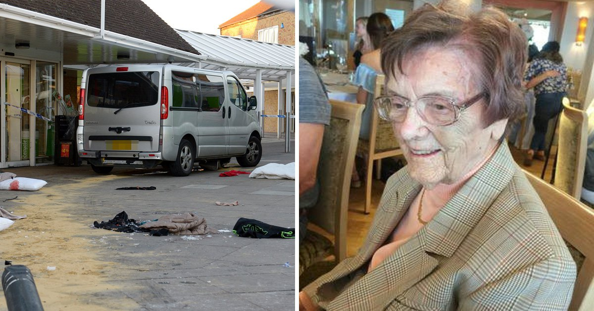 Great-great-grandmother, 100, died after being hit by van in Asda car park