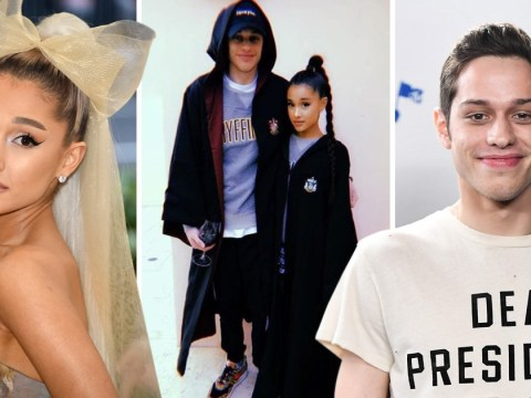 Ariana Grande and Pete Davidson are super cute (and super official) as they cosy up on Harry Potter-themed date