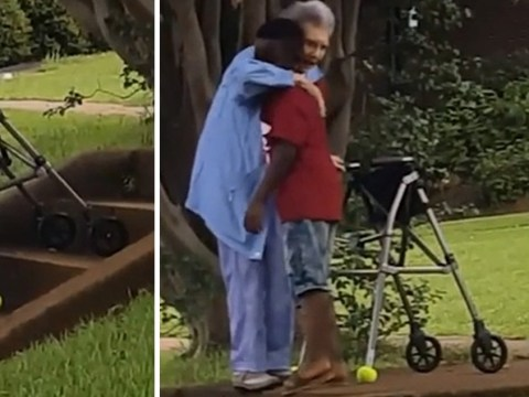 Boy, 8, stops traffic to help elderly woman up stairs in heartwarming video