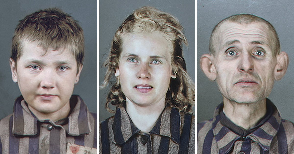 Faces of Auschwitz prisoners are even more devastating in colour