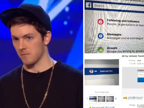 Man tried to sell all his Facebook data on eBay for £300
