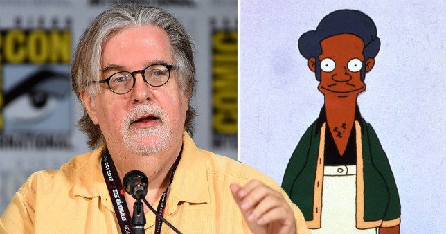 Matt Groening and Apu