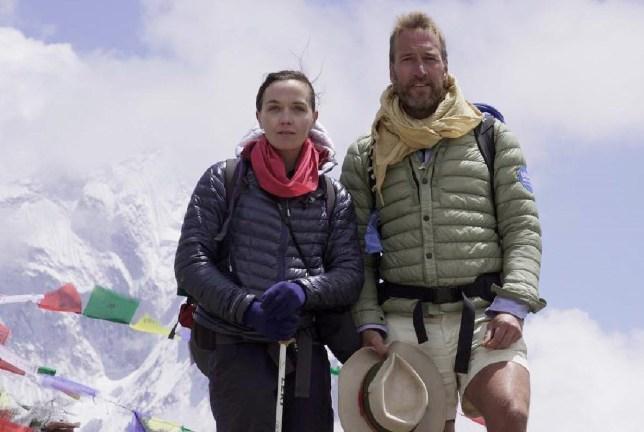 Ben Fogle and Victoria Pendleton social media of their Everest climb benfogleTeam B and V #everest2018 supporting @britishredcross