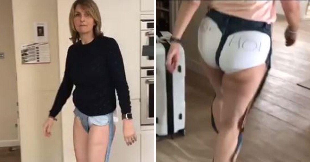 Loose Women stars  Kay McAdams and Nadia Sawalha attempt to rock these jeans so you don't have to