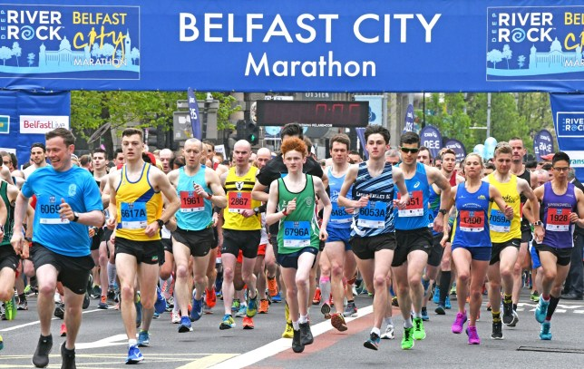 Picture Shows: General View May 7, 2018 Over 17,000 people took part in the 2018 Belfast City Marathon in Northern Ireland. There were quite a few entertaining participates, and even thousands more line the route around the city cheering and encouraging the runners. Non Exclusive WORLDWIDE RIGHTS NO UK & IRELAND PAPERS OR WEB Pictures by : Flynet Pictures ? 2018 Tel : +44 (0)20 3551 5049 Email : info@flynetpictures.co.uk