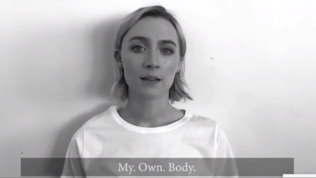 Saoirse Ronan says fight for 'a modern Ireland is unstoppable' as she backs Eighth Amendment repeal METRO GRAB taken from: http://video.metro.co.uk/video/met/2018/05/08/2418550845801320078/640x360_MP4_2418550845801320078.mp4 Credit: Together For Yes