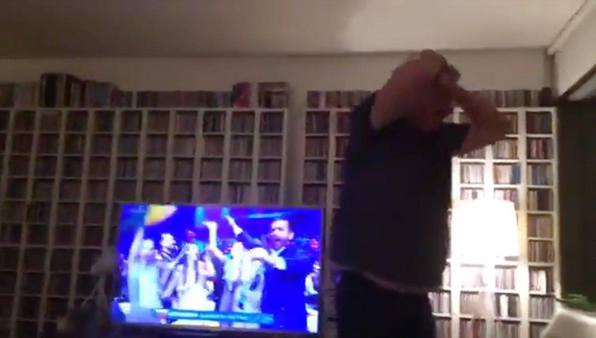 Irishman flips out when Ireland get through to Eurovision final