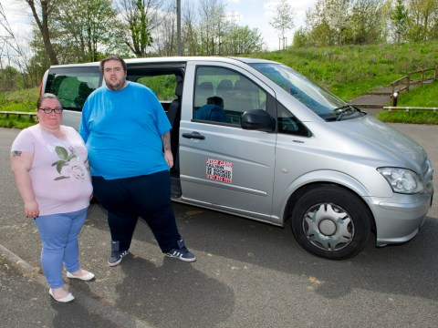 Obese couple 'banned by taxi firm' after 36-stone man 'busted two cars' suspension'