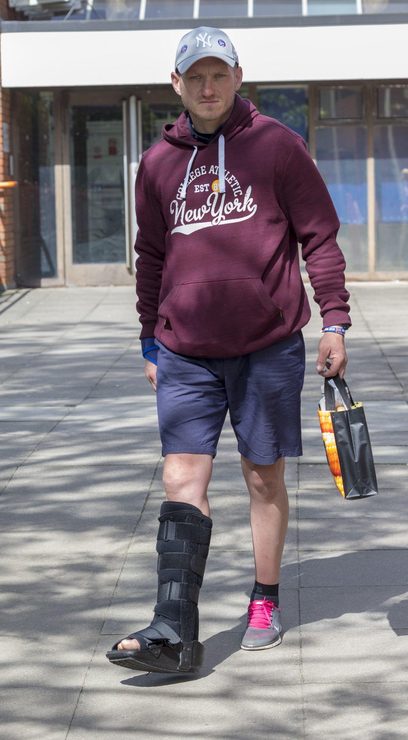 Pic Doug Seeburg - London marathon cheat Stanley Skupien leaves Uxbridge mags court. (Picture: Doug Seeburg/The Sun/News Licensing)
