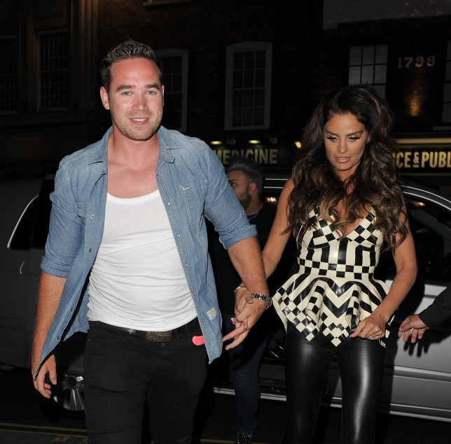 LONDON, ENGLAND - MAY 28: Kieran Hayler and Katie Price attend the RuPaul Party At Cafe de Paris on May 28, 2015 in London, England. (Photo by Ricky Vigil M/GC Images)