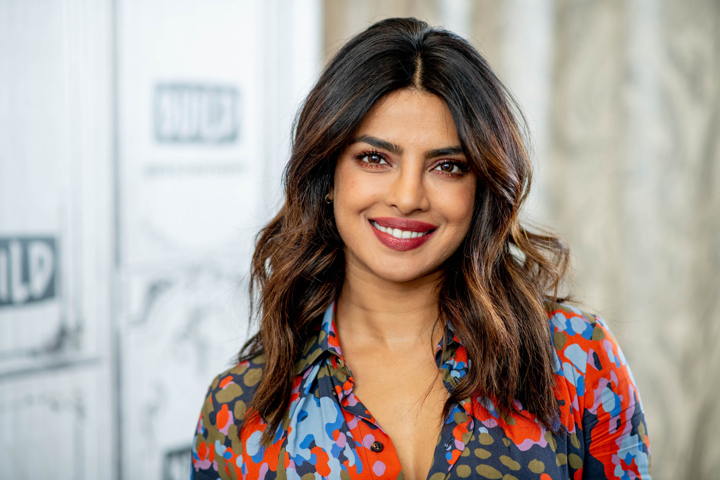 "NEW YORK, NY - APRIL 26: Priyanka Chopra discusses ""Quantico"" with the Build Series at Build Studio on April 26, 2018 in New York City. (Photo by Roy Rochlin/WireImage)"