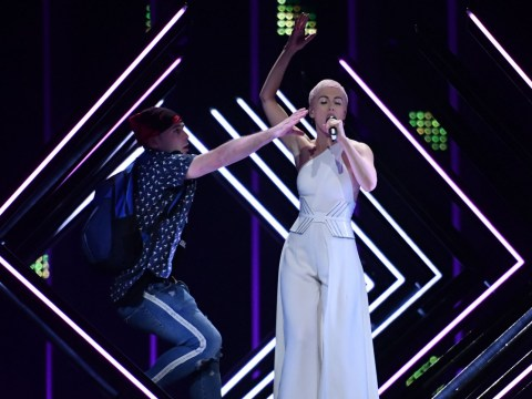 European Broadcasting Union confirm SuRie's Eurovision stage invader is 'in police custody'