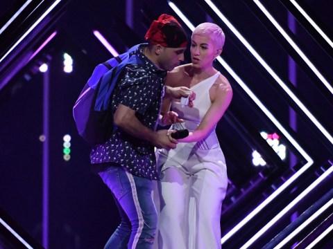 SuRie 'ok' after stage invader gatecrashes her Eurovision 2018 final performance