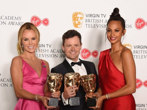 Amanda Holden says Declan Donnelly is doing a 'sterling' job without Ant McPartlin at the Bafta TV awards