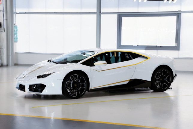 A Lamborghini supercar has been sold for ?615,000 thanks to its one very careful owner - THE POPE. See SWNS story SWPOPE; The one-off Huracan, which has a top speed of 198mph, would typically be worth around ?155,000. It was donated to His Holiness Pope Francis by Lamborghini in November last year, but the head of the Catholic Church, 81, doesn?t have much use for it around the Vatican City. So the two-seater supercar was entered into RM Sotheby?s Monte Carlo sale held over the weekend.