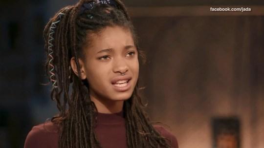 Willow Smith self-harmed METRO GRAB taken from: http://video.metro.co.uk/video/met/2018/05/15/7232813440755843312/1024x576_MP4_7232813440755843312.mp4 Credit: Jada/Facebook