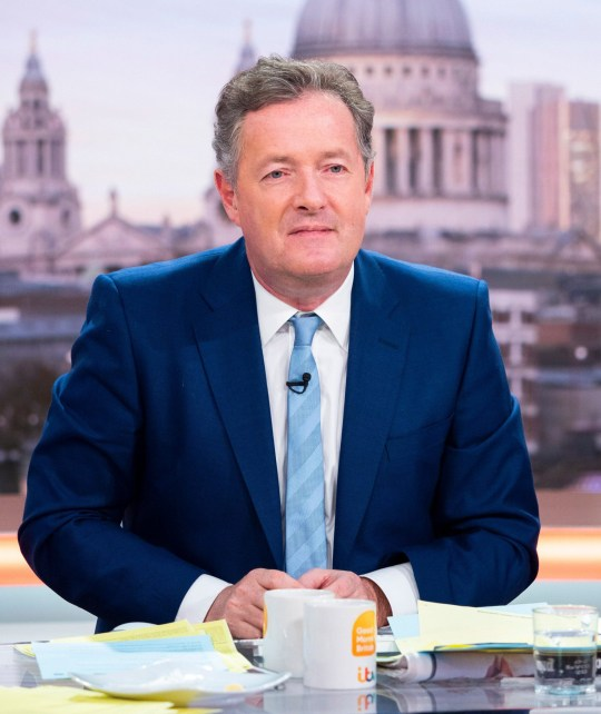 EDITORIAL USE ONLY. NO MERCHANDISING Mandatory Credit: Photo by Ken McKay/ITV/REX/Shutterstock (9671880ai) Piers Morgan 'Good Morning Britain' TV show, London, UK - 15 May 2018
