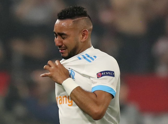Soccer Football - Europa League Final - Olympique de Marseille vs Atletico Madrid - Groupama Stadium, Lyon, France - May 16, 2018 Marseille's Dimitri Payet leaves the pitch in tears as he is substituted off due to injury REUTERS/Peter Cziborra