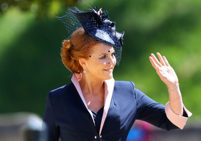 The Duchess of York arrives at St George's Chapel at Windsor Castle for the wedding of Meghan Markle and Prince Harry. Saturday May 19, 2018. Gareth Fuller/Pool via REUTERS