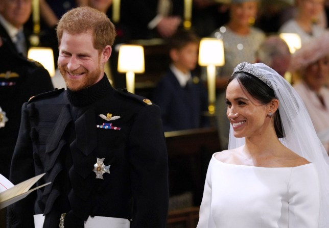 Mandatory Credit: Photo by REX/Shutterstock (9685436bk) Prince Harry and Meghan Markle The wedding of Prince Harry and Meghan Markle, Ceremony, St George's Chapel, Windsor Castle, Berkshire, UK - 19 May 2018