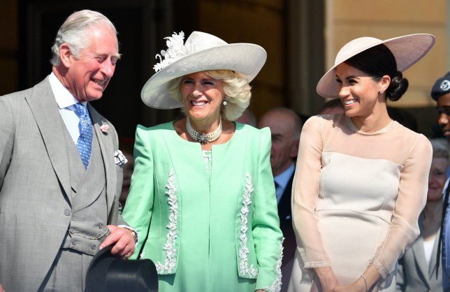 Mandatory Credit: Photo by Tim Rooke/REX/Shutterstock (9688571y) Prince Charles, Camilla Duchess of Cornwall and Meghan Duchess of Sussex The Prince of Wales' 70th Birthday Patronage Celebration, Buckingham Palace, London, UK - 22 May 2018