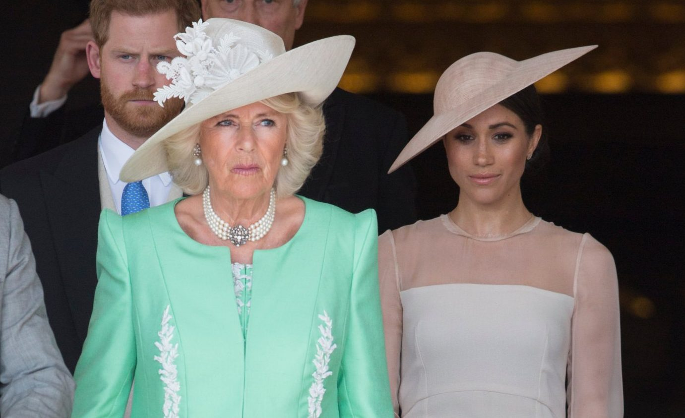 Camilla Parker Bowles reveals the Royal Family were worried over Meghan Markle family drama before royal wedding