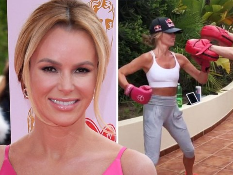 Amanda Holden channels Rocky as she packs a punch at boxing bootcamp
