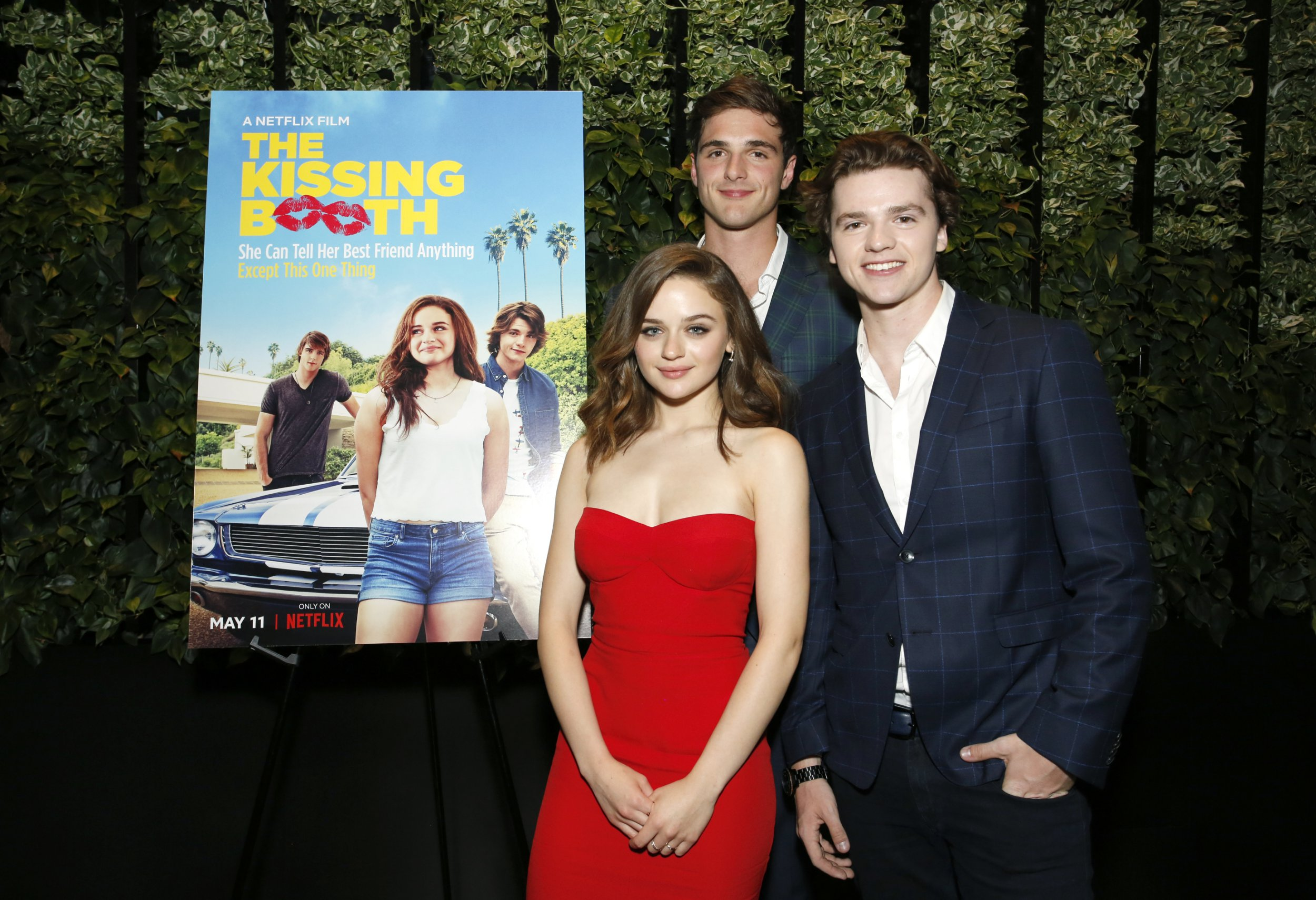 LOS ANGELES, CA - MAY 10: Jacob Elordi, Joey King and Joel Courtney attend a screening of 'The Kissing Booth' at NETFLIX on May 10, 2018 in Los Angeles, California. (Photo by Rachel Murray/Getty Images for Netflix)