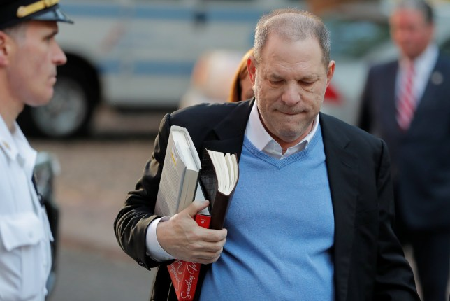 Film producer Harvey Weinstein arrives at the 1st Precinct in Manhattan in New York, U.S., May 25, 2018. REUTERS/Lucas Jackson