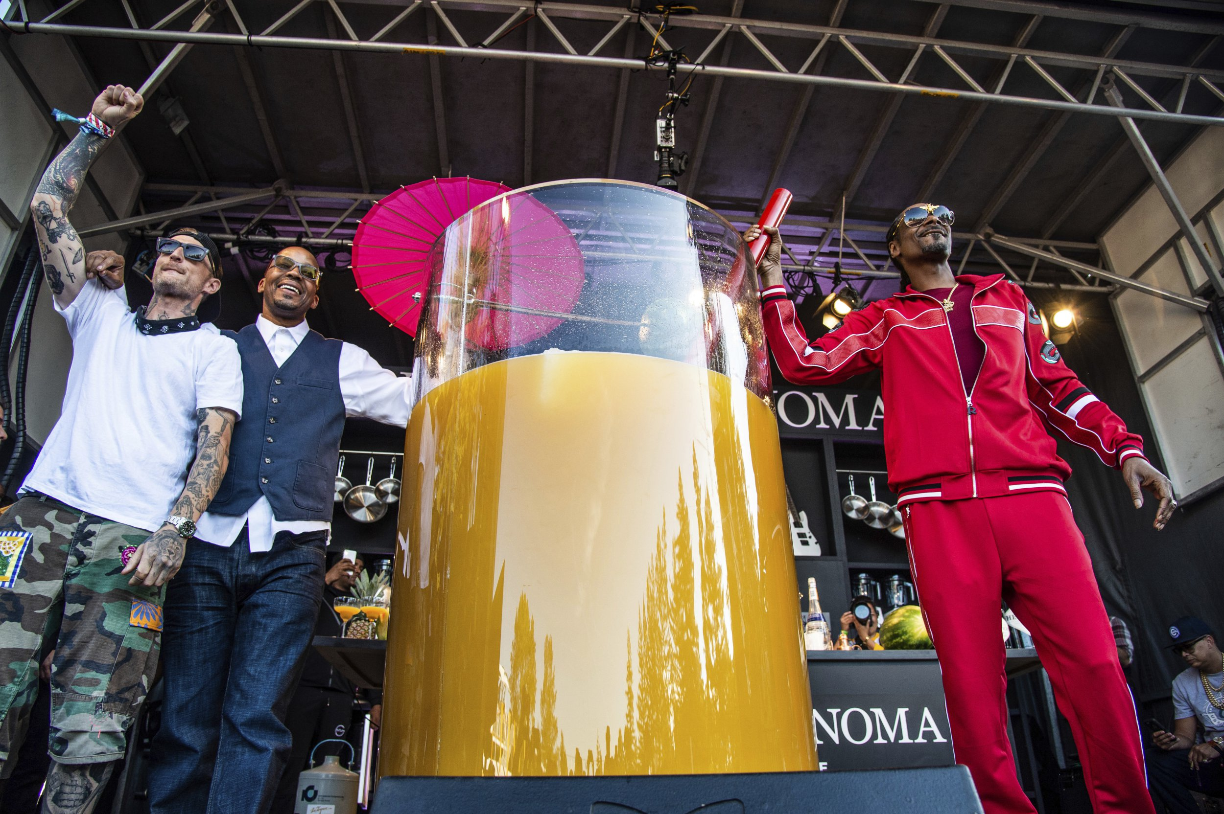 Snoop Dogg smashes world record for largest ever glass of gin and juice