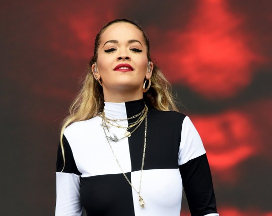 SWANSEA, WALES - MAY 27: Rita Ora performs during day 2 of BBC Radio 1's Biggest Weekend 2018 held at Singleton Park on May 27, 2018 in Swansea, Wales. (Photo by Dave J Hogan/Dave J Hogan/Getty Images)